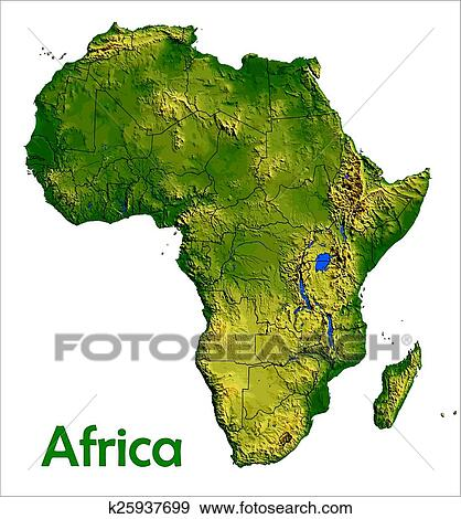 Clip Art of Africa continent map k25937699 - Search Clipart ...