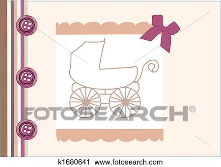 clipart of baby arrival announcement card k1680641 search clip art