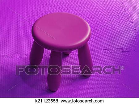 Immagini piccolo rosa plastica sgabello per bambini