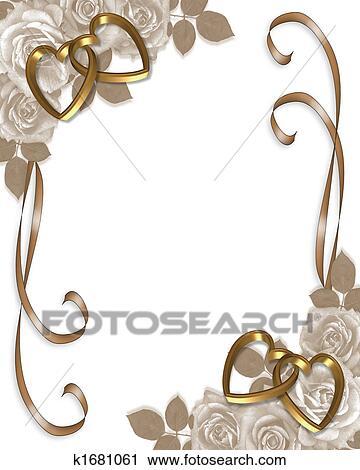 Clipart Sepia Rosen Hochzeitskarten K1681061 Suche Clip Art