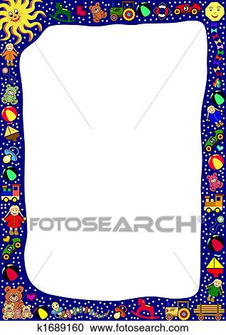 Clipart Of Toys Border K1689160 Search Clip Art Illustration