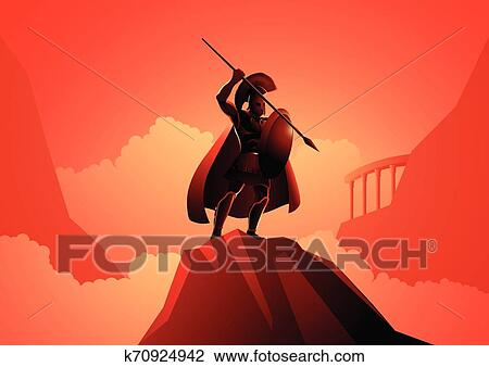ares the greek god of war clipart  k70924942  fotosearch
