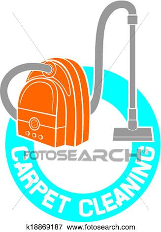 clip art of carpet cleaning service sign k18869187 search clipart rh fotosearch com  steam carpet cleaning clipart
