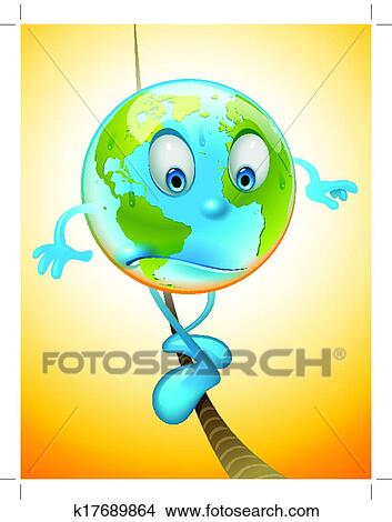Clipart of Global warming k17689864 - Search Clip Art ...