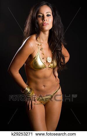 American woman bikini
