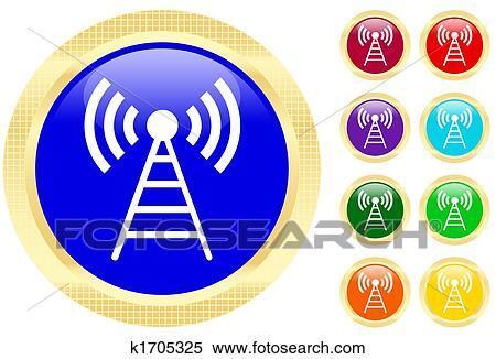 Stock Illustration - antenne, symbol k1705325 - Suche Clipart ...