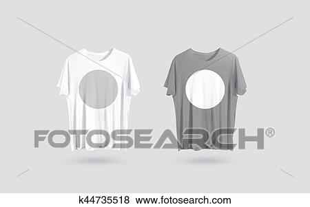 Pictures Of Blank Grey And White T Shirt Front Side View Design