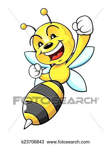 clipart of bumblebee mascot k23706843 search clip art rh fotosearch com