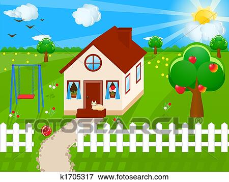 Stock Illustration Of Country House K1705317