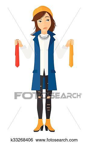 Customer choosing goods. Clip Art   k33268406   Fotosearch
