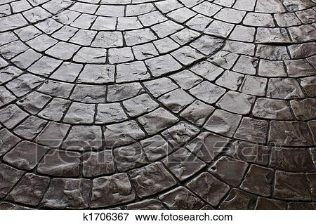 Picture Of Dark Rustic Floor Paving Stone Pattern K1706367