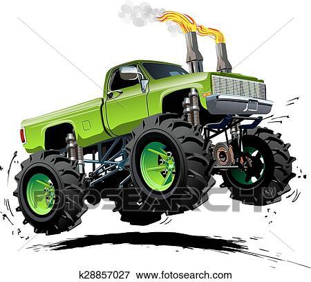 Clipart Dessin Animé Camion Monstre K28857027 Recherchez Des
