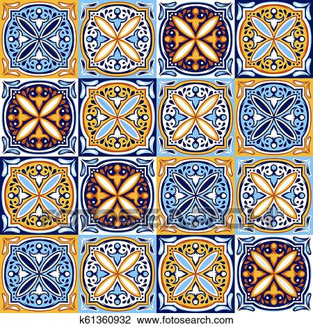 Italian Ceramic Tile Pattern Ethnic