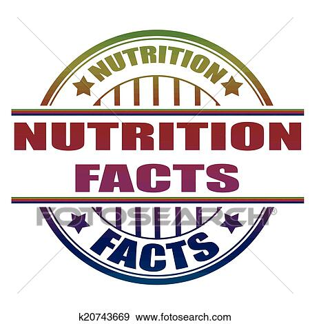 Clip Art Of Nutrition Facts Stamp K20743669