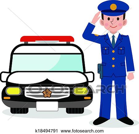 clipart of police officers and police car k18494791 search clip rh fotosearch com clip art police shield clip art police shield