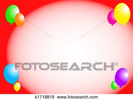 Stock illustration of balloon border k1718819 search vector stock illustration balloon border fotosearch search vector clipart drawings print murals thecheapjerseys Images
