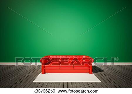 Pavimento Rosso E Bianco : Archivio illustrazioni parete verde e scuro pavimento legno