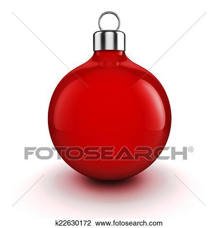 Clip Art Of 3d Chritmas Ball Ornament On White Background K22630172