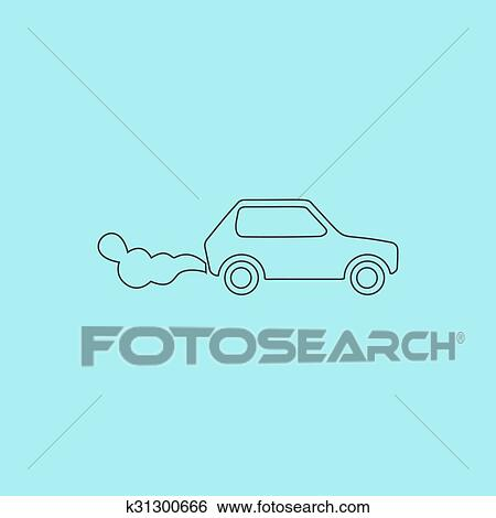 Car Co2 Black Simple Icons Set For Web Design Royalty Free Cliparts,  Vectors, And Stock Illustration. Image 51196332.