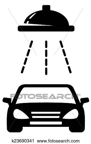 Isolated Black Car Wash Icon Clipart K23690341 Fotosearch