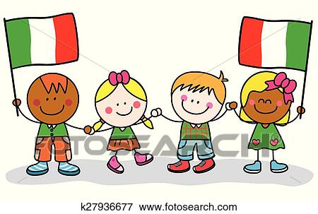 clip art of kids from italy k27936677 search clipart illustration rh fotosearch com rome italy clipart venice italy clipart