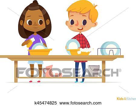 Putzen Kinder Clipart