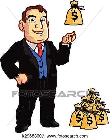 Clip Art of Banker k29683607 - Search Clipart ...