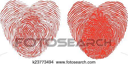 Clipart Fingerabdruck Herz K23773494 Suche Clip Art