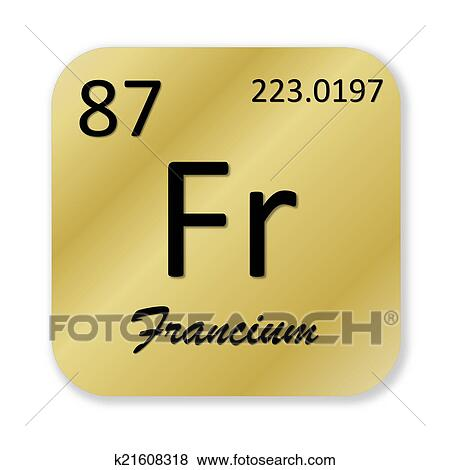Stock Illustration Of Francium Element K21608318 Search Eps Clip
