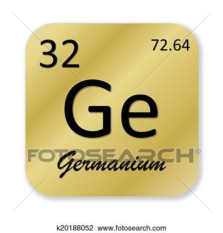 Clip Art Of Germanium Element K20188052 Search Clipart