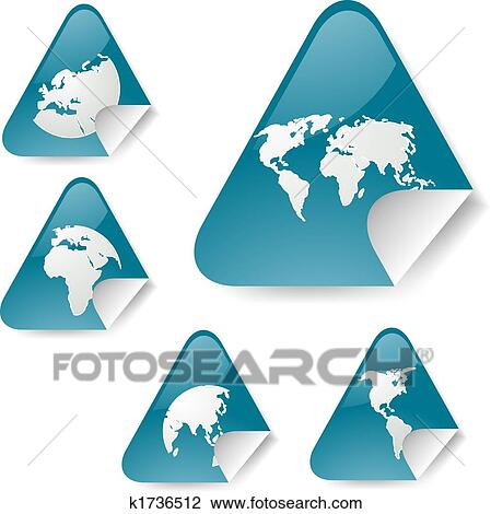 Clip art of world map stickers k1736512 search clipart clip art world map stickers fotosearch search clipart illustration posters drawings gumiabroncs Images