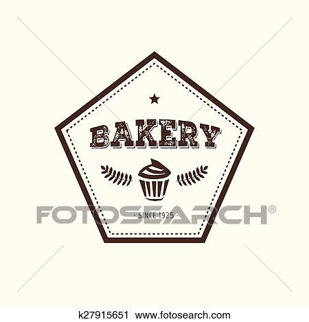 clipart of abstract vector cake vintage logo element cakes bread