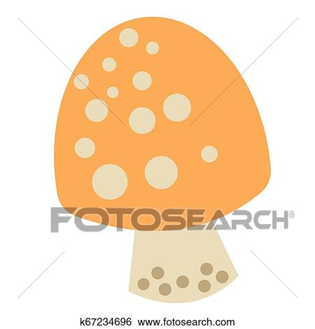 Mushroom Color Simple Illustration Clip Art K67234696 Fotosearch