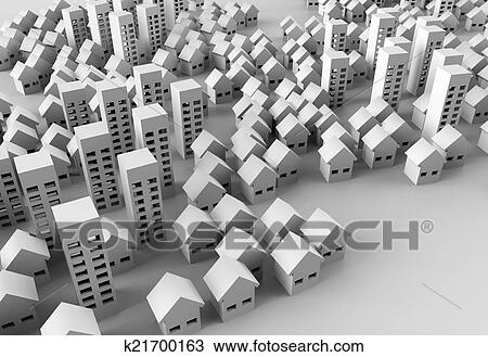 Drawing Of Papercraft Building K21700163 Search Clipart