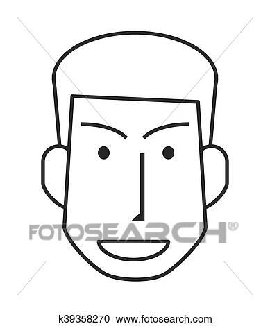 Rosto De Homem Icone Clipart K39358270 Fotosearch