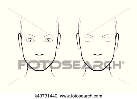 Clipart of young woman face chart makeup artist blank template face chart makeup artist blank template maxwellsz