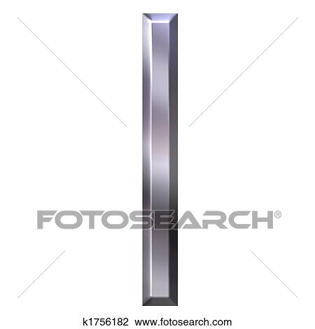 3d silver letter l drawing k1756182 fotosearch fotosearch