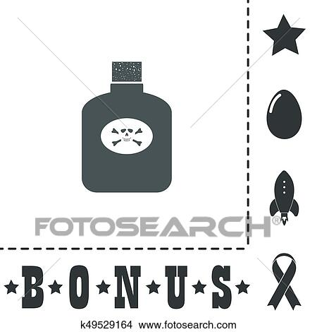 Clipart Of Bottle Of Poison K49529164 Search Clip Art