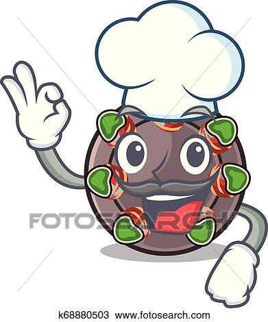 Chef Escargot Is Presented On Character Plates Clipart K68880503 Fotosearch