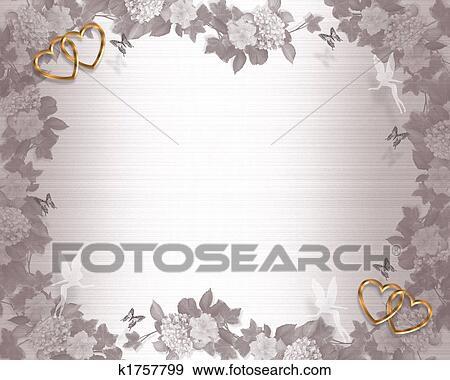 Stock Illustration Hochzeitskarten Hintergrund Feen K1757799