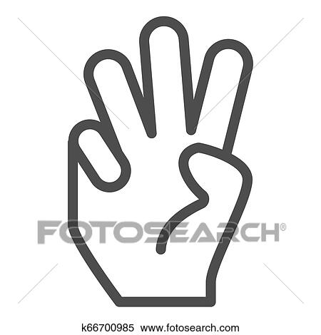 Three Fingers Cliparts, Stock Vector And Royalty Free Three Fingers  Illustrations