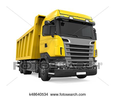 Drawings Of Tipper Dump Truck Isolated K48640534