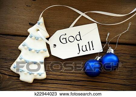 Frohe Weihnachten Schwedisch.Weihnachten Hintergrund Mit Schwedische Weihnachtsgrusse Stock Bild