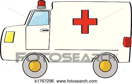 سيارة إسعاف Clip Art K1767296 Fotosearch