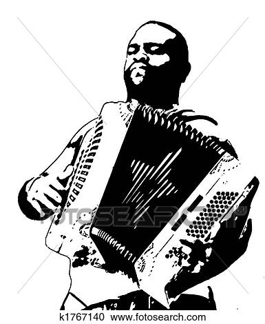 Stock Illustrations Of Accordion Player 2 K1767140