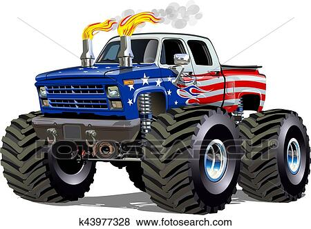 Clipart Dessin Animé Camion Monstre K43977328 Recherchez Des