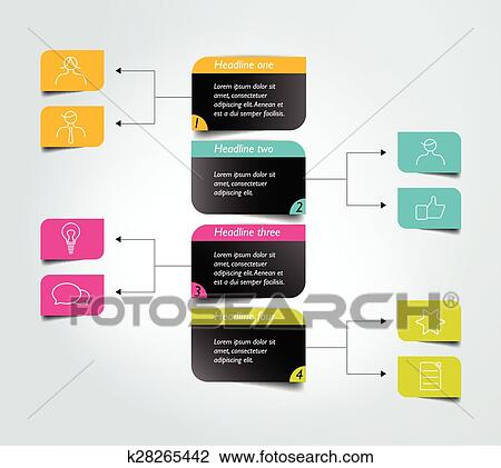 Clipart Of Flowchart Diagram Scheme Infographic Element K28265442