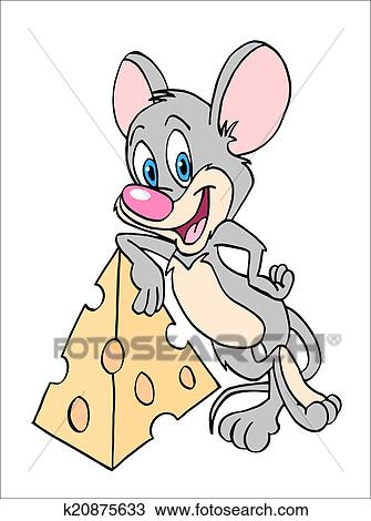 Souris A Fromage Dessin K20875633 Fotosearch