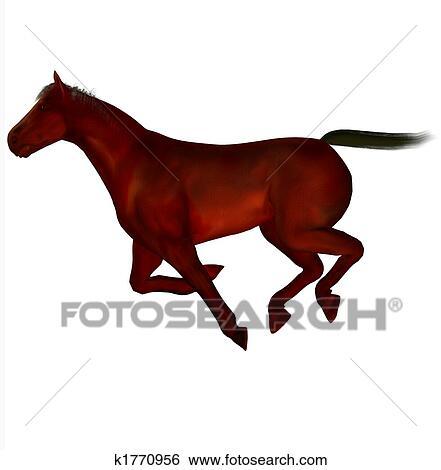 3d 美しい 馬 イラスト K1770956 Fotosearch