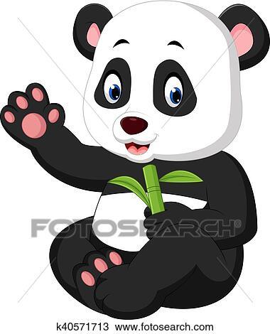 Clipart Bebe Panda Dessin Anime K40571713 Recherchez Des Clip